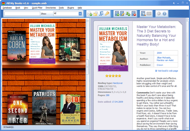 Click to view All My Books screenshots