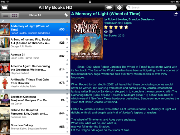 All My Books HD for iPad screenshot