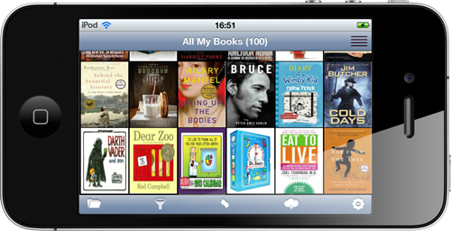 All My Books for iPhone - cover thumbnails