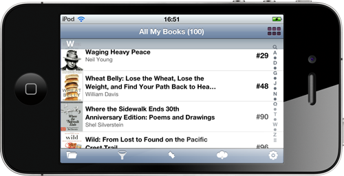 All My Books for iPhone - book list