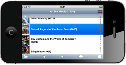 All My Movies for iPhone - movie list