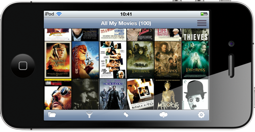 All My Movies for iPhone - cover thumbnails
