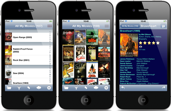All My Movies for iPhone screenshots