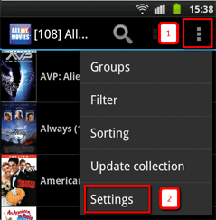 settings for Android