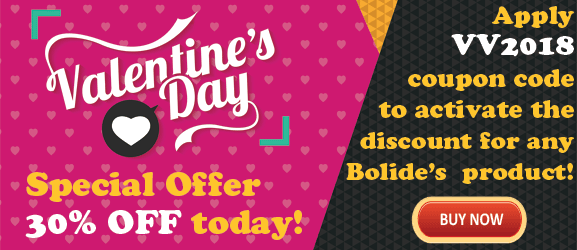 Apply VV2018 coupon code to activate our Valentine promo